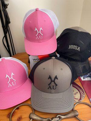 Camo and pink Hanoverian hats